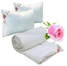 Одеяло Евро с Подушками 200х220 Роза белая 250г/м2 Руно (322.52Rose)