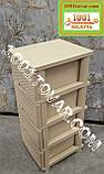 2 шт. Комод пластиковый Ротанг коричневый, 4 ящика, Алеана, фото 4
