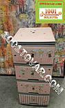 2 шт. Комод пластиковый Ротанг коричневый, 4 ящика, Алеана, фото 7