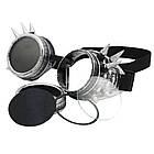Очки Стимпанк цвет состаренный стальной с шипами (SPG-009), фото 5