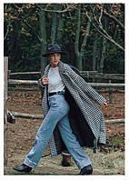 Пальто шерстяное, серого цвета, женское демисезонное. Размер: 42-46, 48-52.