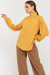 Красивая свободная блуза с широкими рукавами Emira (42–52р) в расцветках
