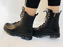 Турецкая обувь.Натуральный мех.  Женские зимние ботинки. Натуральная кожа . Trio. Р.36, 37, фото 3