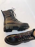 Турецкая обувь.Натуральный мех.  Женские зимние ботинки. Натуральная кожа . Trio. Р.36, 37, фото 9