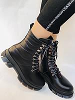 Турецкая обувь.Натуральный мех.  Женские зимние ботинки. Натуральная кожа . Trio. Р.36, 37, фото 4