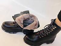Турецкая обувь.Натуральный мех.  Женские зимние ботинки. Натуральная кожа . Trio. Р.36, 37, фото 10