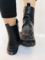 Турецкая обувь.Натуральный мех.  Женские зимние ботинки. Натуральная кожа . Trio. Р.36, 37, фото 6
