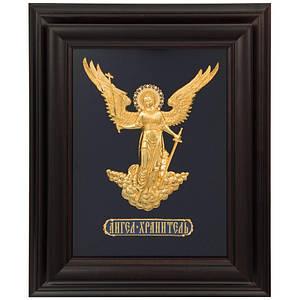 """Футляр для ключей настенный """"Ангел Хранитель"""" натуральное дерево. Цвет темный"""