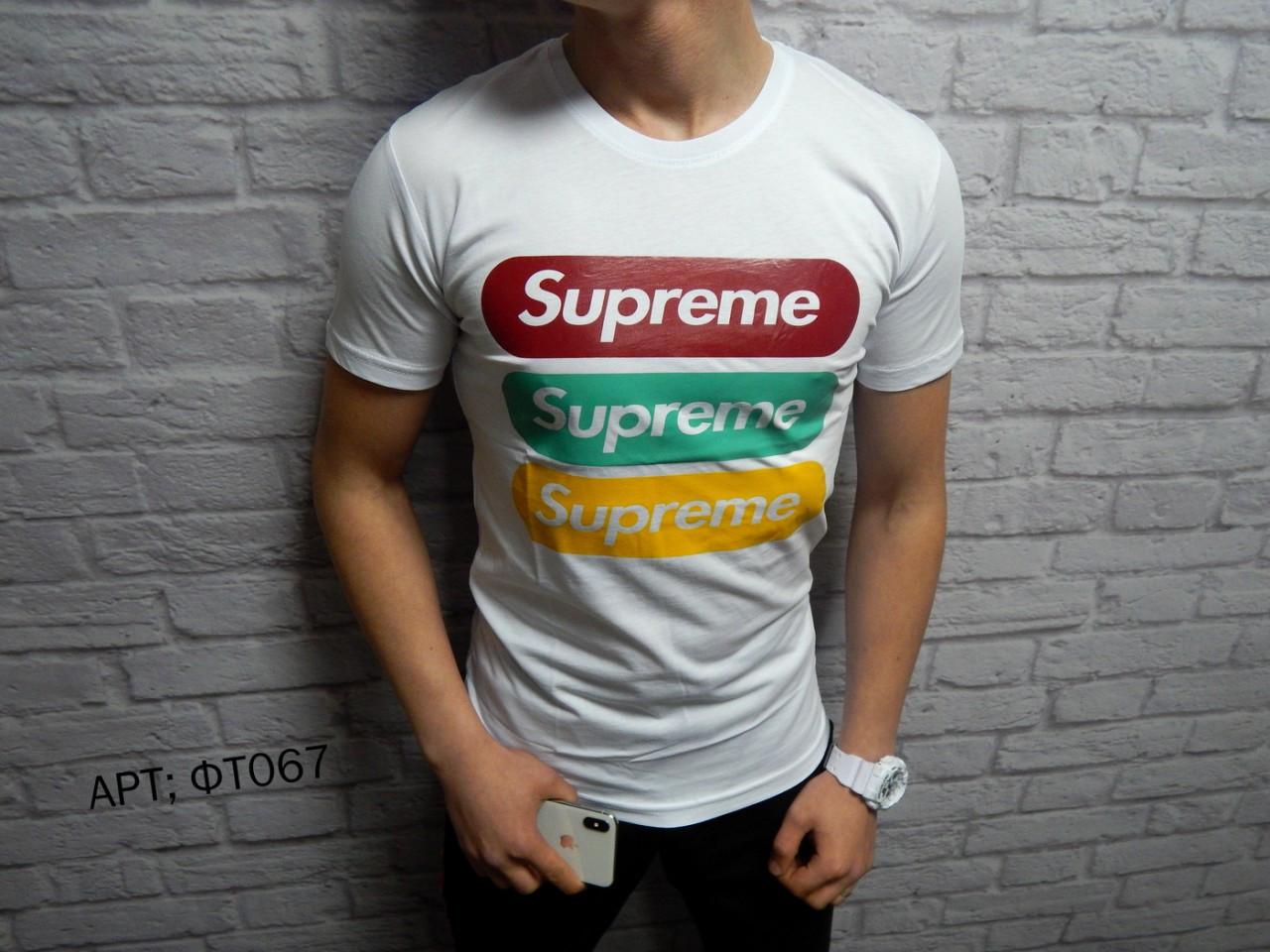 Мужская футболка Supreme. Размеры M