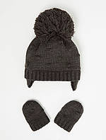 Сірий зимовий набір із шапочки і рукавичок Джордж для хлопчика