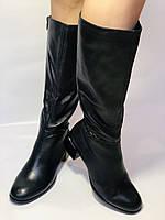 Polann. Осенне-весенние сапоги из натуральной на среднем каблуке. Люкс качество. Р. 40, фото 3