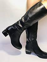 Polann. Осенне-весенние сапоги из натуральной на среднем каблуке. Люкс качество. Р. 40, фото 5