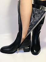 Polann. Осенне-весенние сапоги из натуральной на среднем каблуке. Люкс качество. Р. 40, фото 7