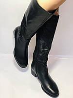 Polann. Осенне-весенние сапоги из натуральной на среднем каблуке. Люкс качество. Р. 40, фото 6