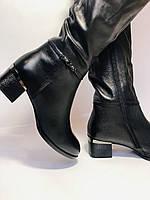 Polann. Осенне-весенние сапоги из натуральной на среднем каблуке. Люкс качество. Р. 40, фото 4