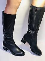 Polann. Осенне-весенние сапоги из натуральной на среднем каблуке. Люкс качество. Р. 40, фото 2