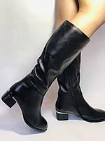 Polann. Осенне-весенние сапоги из натуральной на среднем каблуке. Люкс качество. Р. 40, фото 9