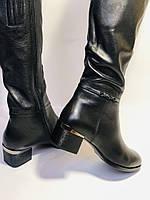 Polann. Осенне-весенние сапоги из натуральной на среднем каблуке. Люкс качество. Р. 40, фото 8