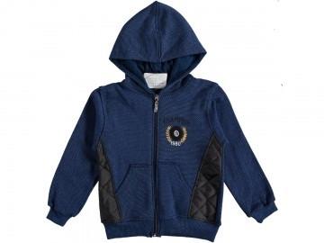 Кофта на замочку для хлопчика 5-8 років темно-синя Турція