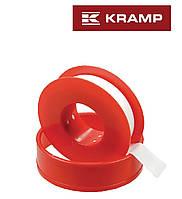 Уплотнительная тефлоновая лента 12мм*12м, для воздушных и водяных трубопроводов KRAMP (Германия)