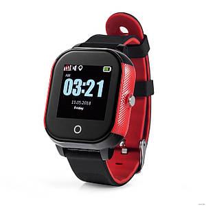 Детские смарт-часы Lemfo DF50 Ellipse Aqua с GPS трекером (Черно-красный)