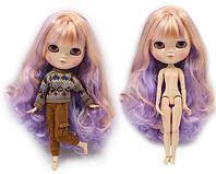 Лялька Айсі з фіолетово-рожевими волоссям з чубчиком сестра Блайз на тілі азон ICY doll, фото 1