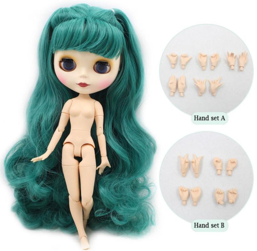 Лялька Айсі з блакитними волоссям з чубчиком сестра Блайз на тілі азон ICY doll