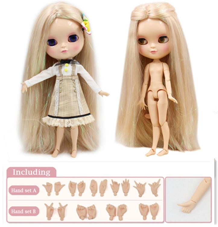 Кукла Айси с русыми блестящими волосами сестра Блайз на теле азон ICY doll