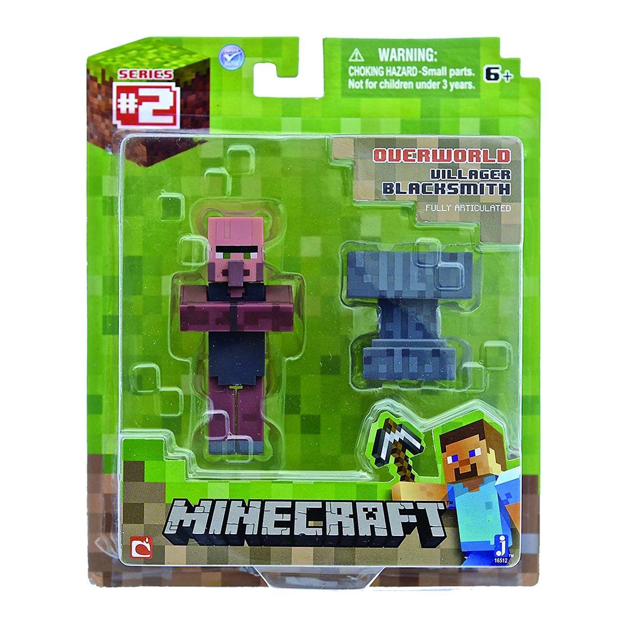 Сільський коваль і ковадло фігурка Майнкрафт Minecraft Blacksmith Villager оригінал Jazwares