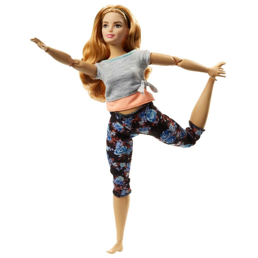 Лялька блондинка йога Barbie made to move curvy Барбі рухайся як я повна в строкатих Безмежні руху
