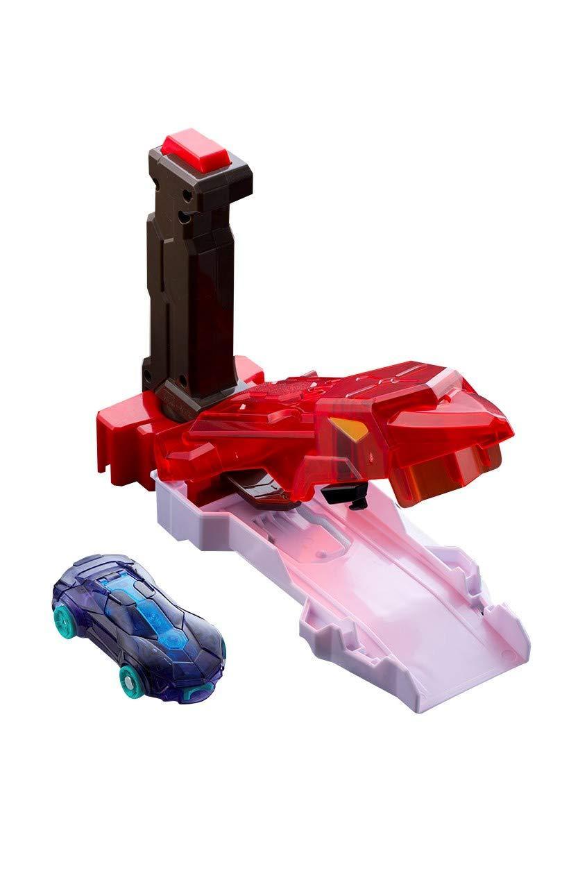 Красный пускатель и машинка найтбайт Screechers Wild Speed Launcher Nightbite летучая мышь бластер