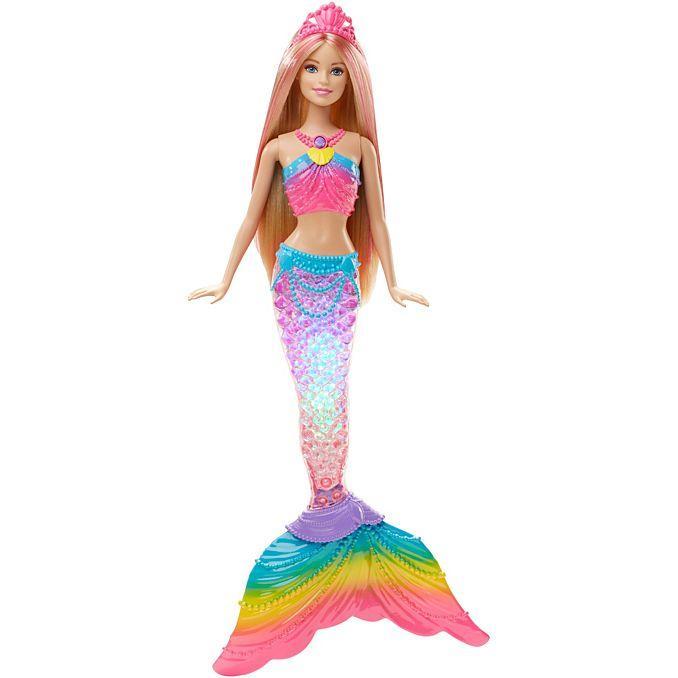 Лялька Барбі Райдужна русалонька Яскраві вогники Дримтопия Barbie Rainbow Lights Mermaid Doll сяйво хвоста