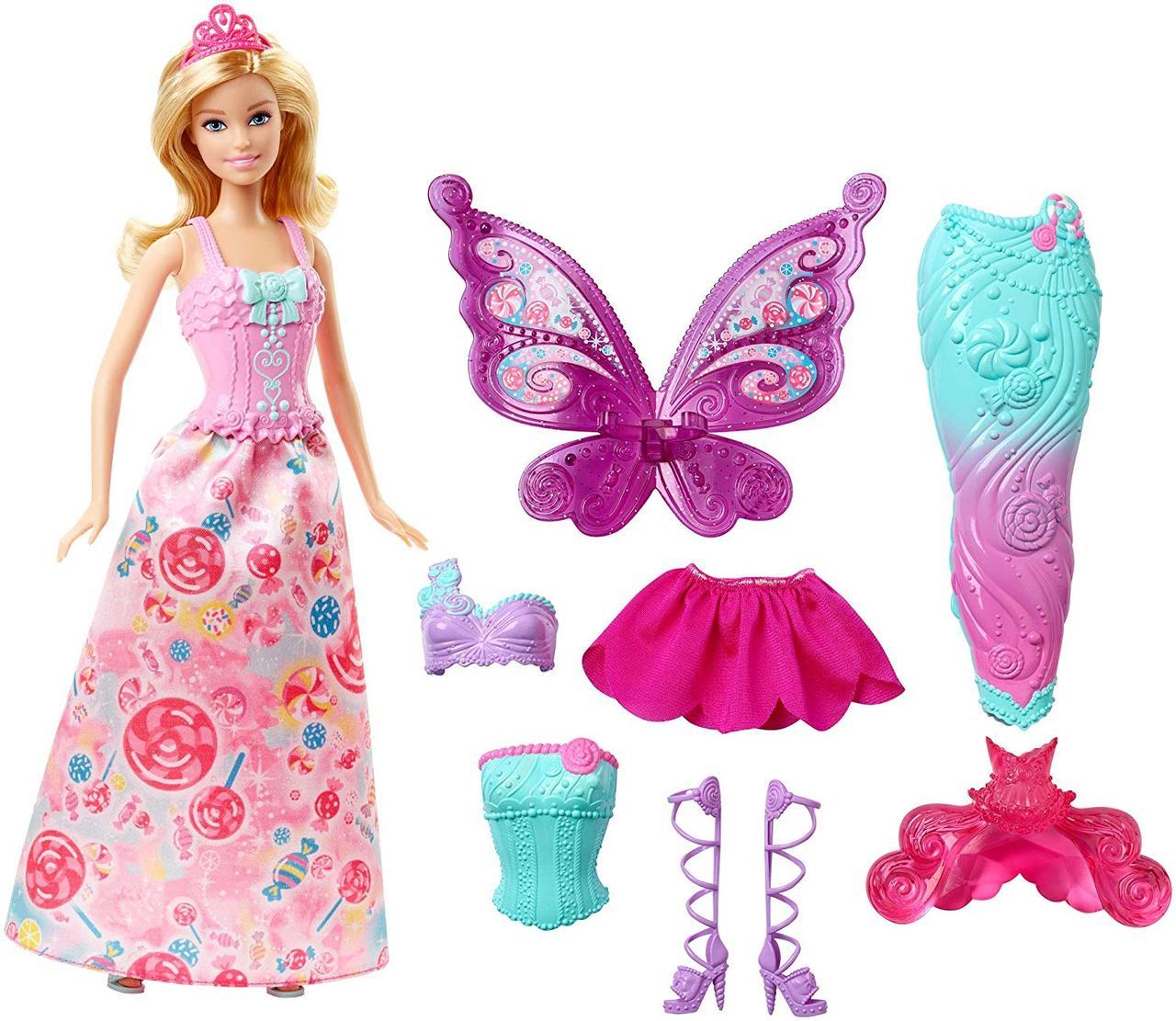 Кукла Barbie Dreamtopia Fairytale Dress Up Барби сказочное волшебное перевоплощение русалочка фея Дримтопия