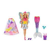 Кукла Барби Дримтопия Волшебное перевоплощение Barbie Dreamtopia Rainbow Cove Fairytale Dress Up Set светлые в, фото 1
