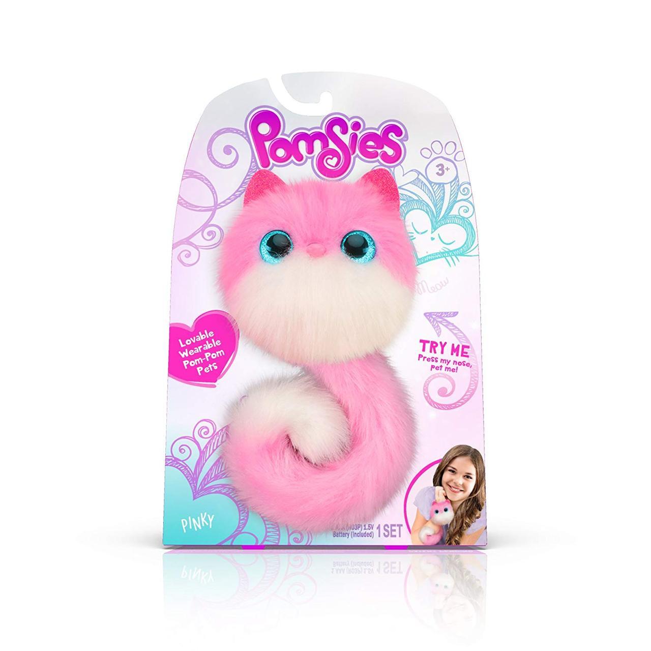 Помсис Пинки помсиз памсис игрушка Pomsies Pinky Plush Interactive Toys