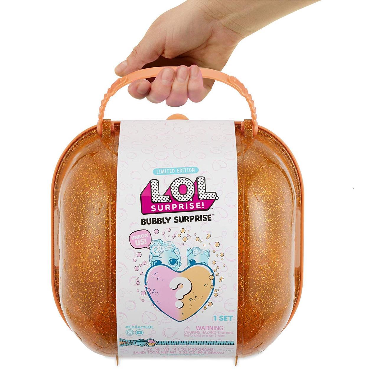 Лялька і вихованець Лол помаранчевий шипучий Валізу кейс сюрпризів L. O. L. Bubbly Surprise Orange lol оригінал MGA