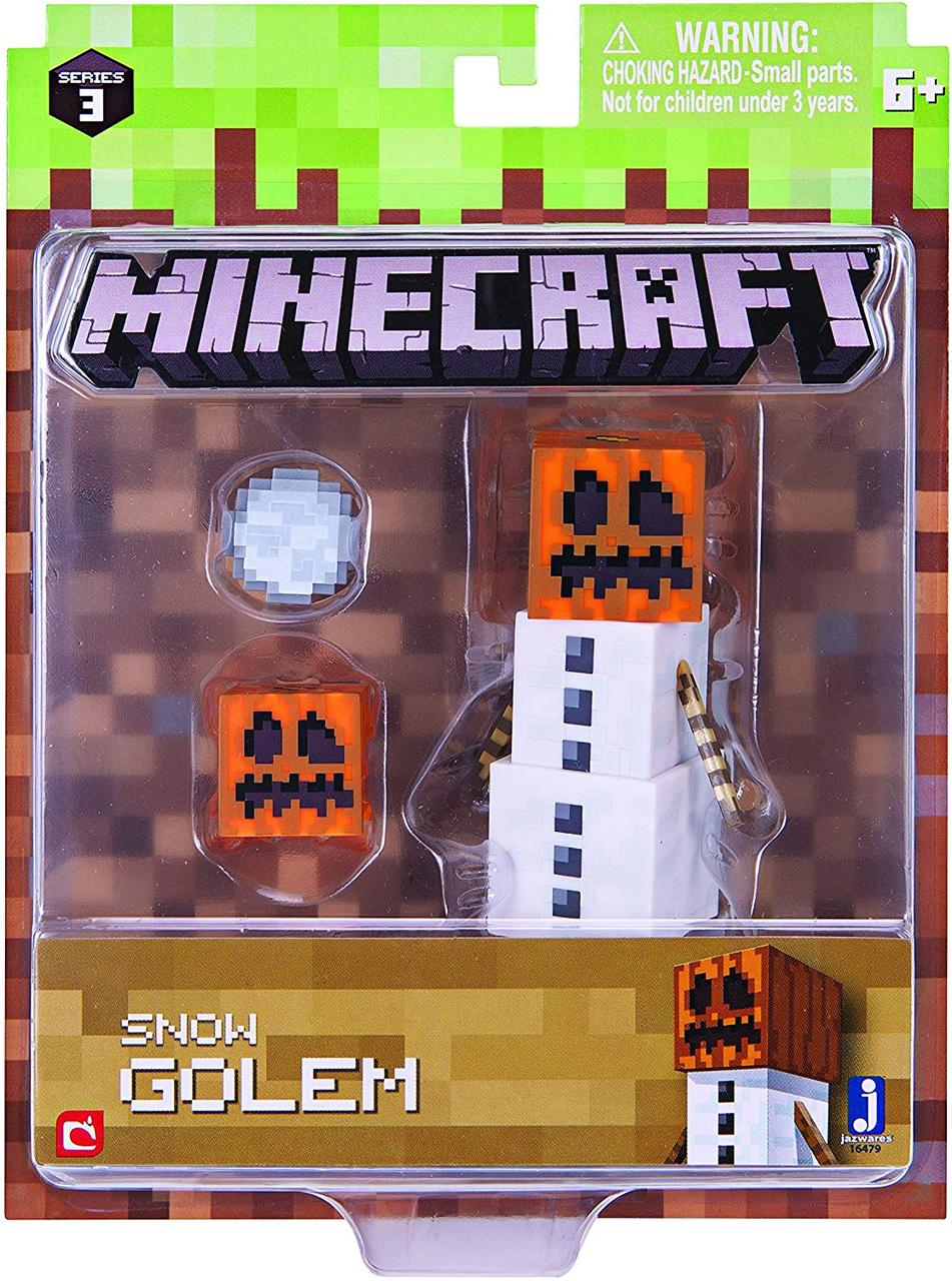 Фигурка Снежный голем Майнкрафт Minecraft Snow Golem Pack Series 3 Wave 1 оригинал Jazwares