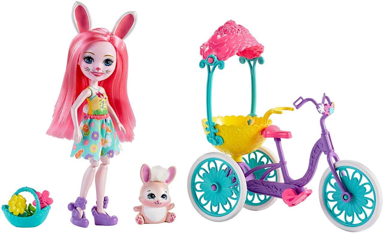 Кукла Энчантималс кролик Банни Бри прогулка на велосипеде Enchantimals Pedal Pals Bree Bunny Bicycle зайка