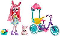 Кукла Энчантималс кролик Банни Бри прогулка на велосипеде Enchantimals Pedal Pals Bree Bunny Bicycle зайка, фото 1