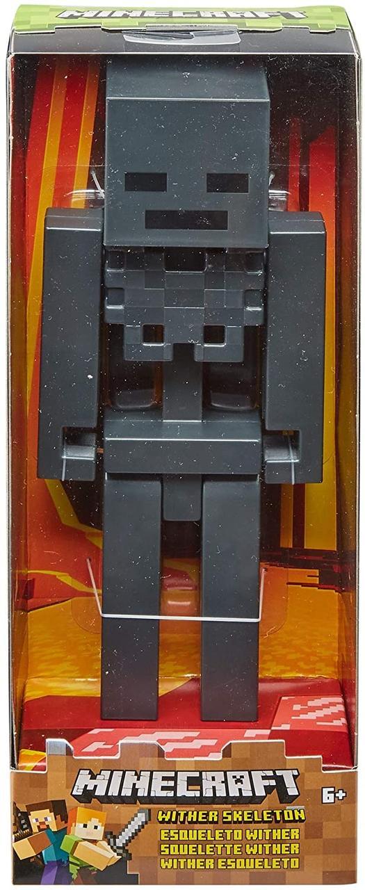 Большая фигурка Скелет Майнкрафт Minecraft Large Wither Skeleton Figure 29 см оригинал Mattel