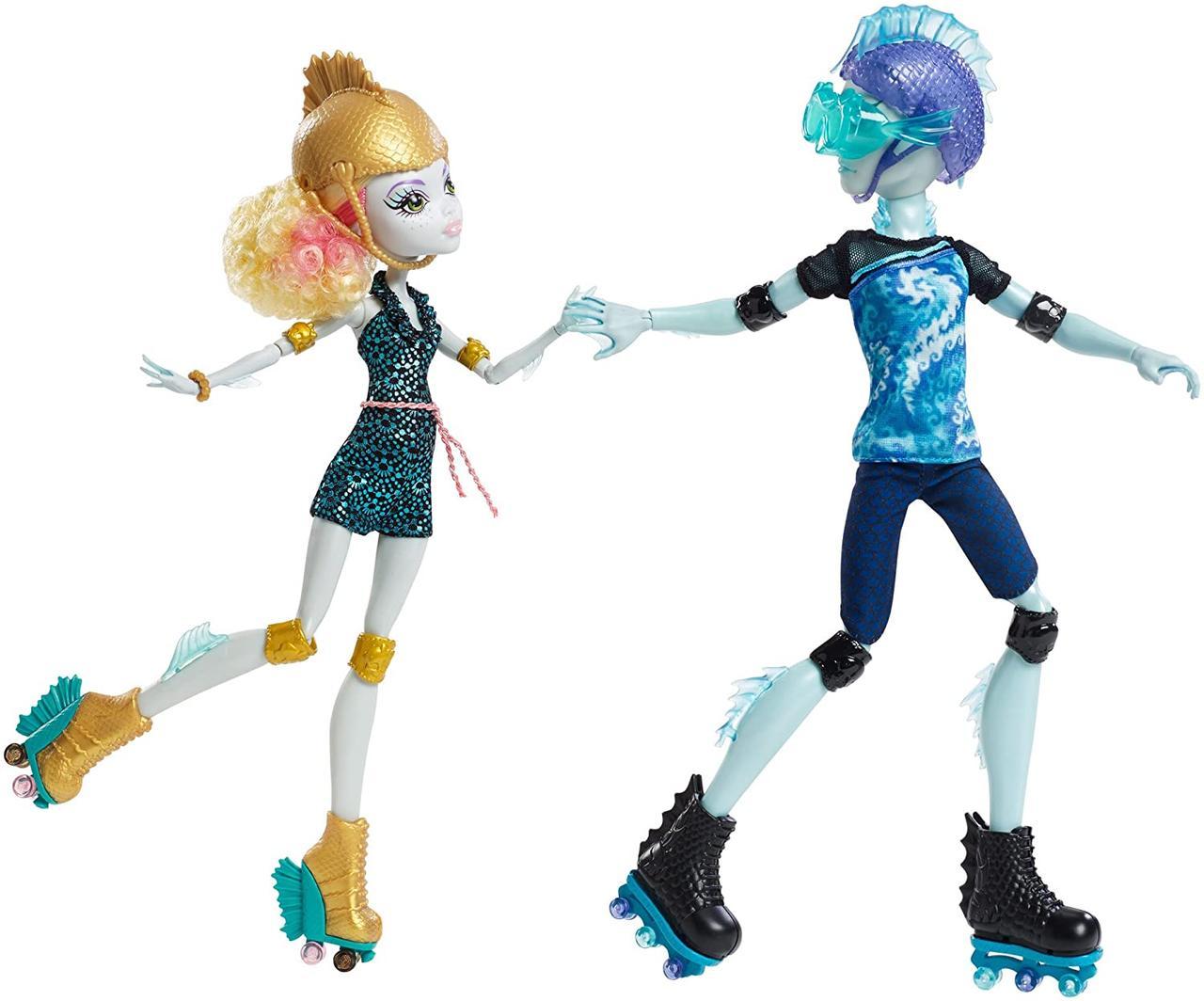 Набор кукол монстер хай Лагуна и Гил Monster High Lagoona Blue Gil Webber Wheel Love на роликах колесах