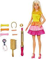 Набор кукла Барби Роскошные волосы локоны с плойкой Barbie Ultimate Curls Doll Blonde оригинал Mattel, фото 1