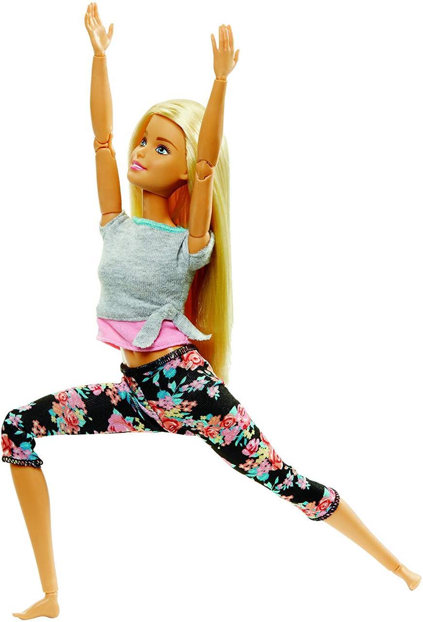 Кукла блондинка йога Barbie made to move Барби двигайся как я рыжая в пестрых штанах Безграничные движения