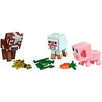 Набор фигурок животные Майнкрафт свинка овечка коровка Minecraft Baby Animals Comic Mode оригинал Mattel, фото 1