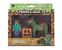 Фигурка Зомби и лошадь Майнкрафт набор Minecraft Zombie with Zombie Horse Action Figure оригинал Jazwares