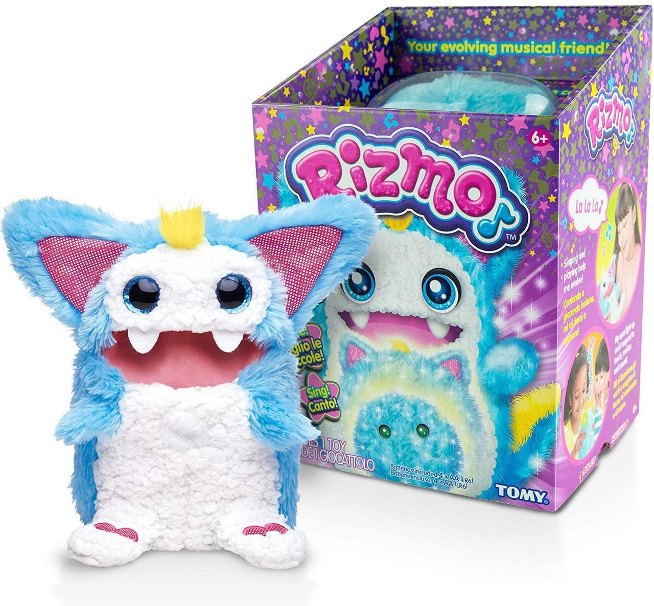 Ризмо интерактивный музыкальный питомец голубой Rizmo Evolving Musical Friend Interactive Plush Toy, Aqua