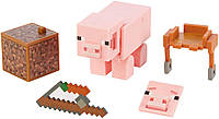 Фигурка Свинка Майнкрафт Minecraft Comic Maker Mode Pig Action Figure оригинал Mattel