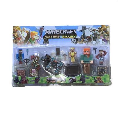 АНАЛОГ Майнкрафт набір Фігурок стів золотий броні алекс бик фігурки Minecraft Alex