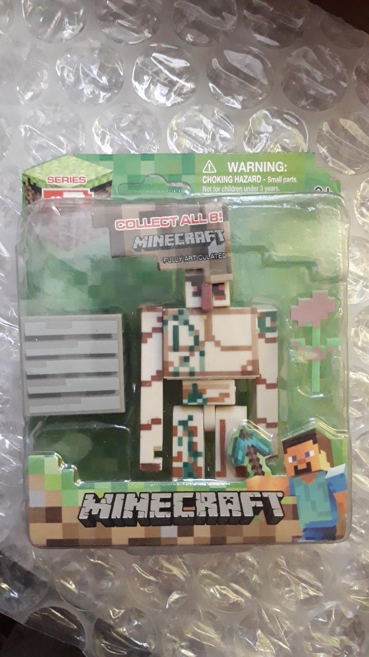 Аналог Голем з блоком і маком фігурка Майнкрафт Minecraft Iron Golem Action