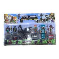 АНАЛОГ Майнкрафт набір Фігурок стів азмазной броні алекс дракон фігурки Minecraft Alex Steve 16 пр
